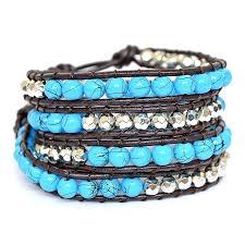 bracelet bead leather images Leather bead wrap bracelet by shamelessly sparkly jpg