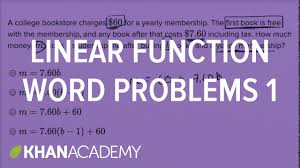 linear function word problems u2014 basic example math new sat