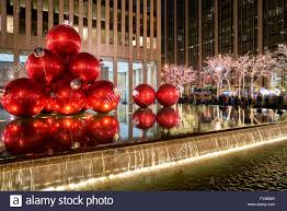 6th avenue christmas decorations new york stock photo royalty