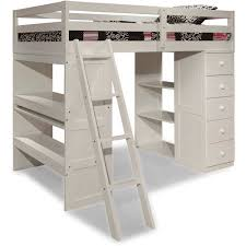 canwood skyway twin loft bed with desk u0026amp storage tower white