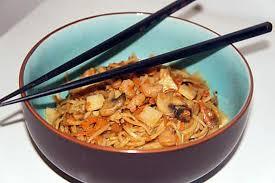 cuisiner des pates chinoises recette de nouilles chinoises sautées aux chignons et crevettes