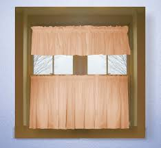 Rust Colored Kitchen Curtains Peach Color Tier Kitchen Curtain Two Panel Set