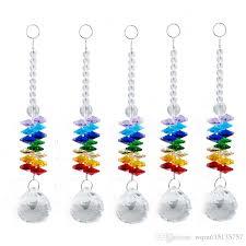 hanging crystals prism rainbow octagon chakra suncatcher hanging