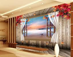 aliexpress com buy 3d mural designs maple wood floor window