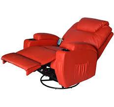 homcom pu leather rocking sofa chair recliner homcom pu leather electric massage recliner chair red aosom co uk