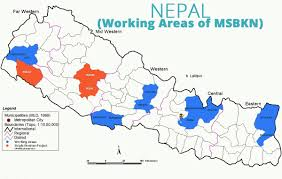 Nepal On A World Map by Mahila Shakti Bikash Kendra Nepal