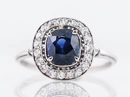 platinum vintage rings images Vintage engagement ring mid century 1 70 oval cut sapphire in jpg