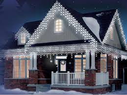white 720 led icicle snowing lights outdoor