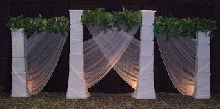 wedding backdrop greenery wedding backdrops backgrounds decorations columns