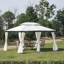 folding garden canopy aosom