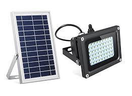 led solar security light semintech solar flood lights 54 led 500 lumens 6w solar panel