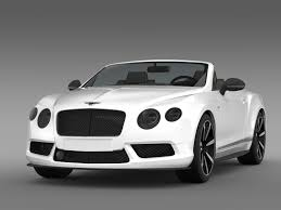 white bentley cars bentley continental gt v8 s convertible 2014 3d model max obj 3ds