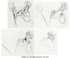 mermaid ursula rough animation drawing group 25