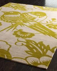 giant green bird floral area rug