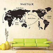 Amazon Removable DIY World Trip Map Art Wall Decor Sticker