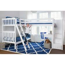 Corner Bunk Bed Troika 3 Beds Maxtrix High Corner Bunk Bed Ladder Stairs