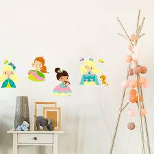 stickers chambre fille princesse sticker enfant princesse aline pour la décoration de sa chambre