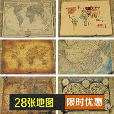 Vintage Map Wallpaper by Online Shop World Map Art Crafts Maps Wallpaper Retro Kraft Paper