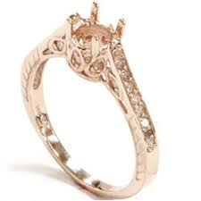 gold engagement ring settings gold ring mount antique engagement ring setting