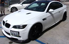 matte white bmw 328i matte finish sd wrap