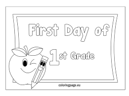 welcome to first grade coloring sheet trends coloring welcome to