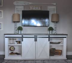 Barn Door Headboard For Sale by Ana White Sliding Barn Door Console Diy Projects