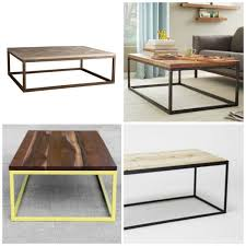 Diy Wooden Coffee Table Designs by Remodelaholic How To Build A Modern Industrial Wood And Metal