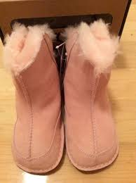 s boots pink ugg australia infant boo pink suede sheepskin boots booties size s
