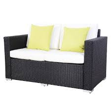 Rattan Settee Amazon Com 4pcs Polar Aurora Black Rattan Wicker Garden Outdoor