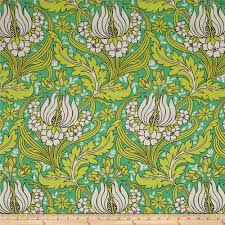 amy butler temple home decor sateen tulips emerald discount