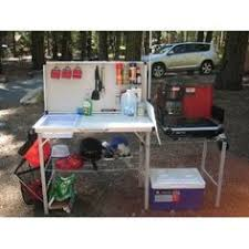 Shelf Collapsible Camping Cabinet Instant Dresser Folding - Oztrail camp kitchen deluxe with sink