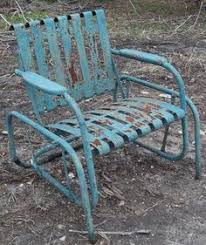Patio Furniture Glider by Retro Outdoor Gliders Vintage Metal Furniture Vintage