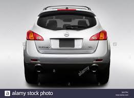 silver nissan 2009 nissan murano sl in silver low wide rear stock photo