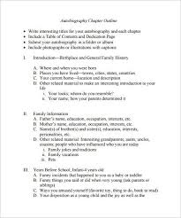 resume for student teachers exles of autobiographies autobiography outline template 8 free sle exle format