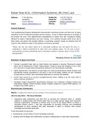 Systems Engineer Resume Examples by Kieran Ryan Cv Business Development Executive Pre Sales Engineer