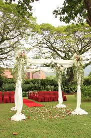 wedding arch garden garden wedding arch decoration stock image image of white