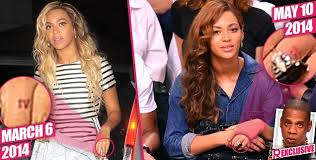 Beyonce Wedding Ring by Trouble In Paradise Beyonce Having Ring Finger Tattoo Removed