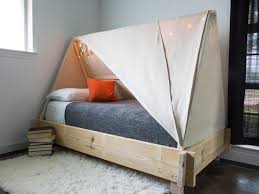 how do you make a bed how to build a tent bed hgtv