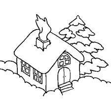 house covered snow houses coloring netart