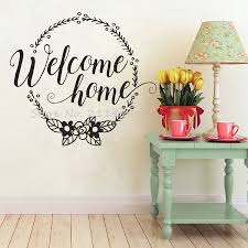 Wall Decals Patterns Color The by Welcome Home Wall Stickers Home Decor Living Room Family Wall