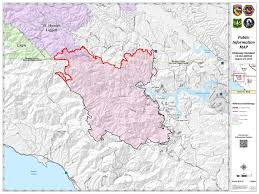 Paso Robles Map Chimney Fire Grows Slightly Map