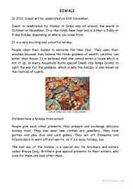 Thanksgiving Comprehension Passages Diwali Worksheets Defendusinbattleblog