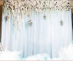 wedding backdrop layout romatic display prop silk cloth with sash party backdrops