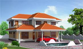 four bedroom house elevation in 2500 sq feet house design plans