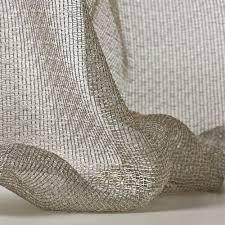 plain sheer curtain fabric polyester lux dedar milano
