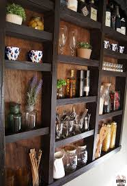 kitchen wall shelves ideas she nails clear suction cups to the bottom of wall the reason