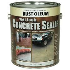 Wet Look Patio Sealer Reviews Rust Oleum Concrete Stain 1 Gal Wet Look Sealer Case Of 2
