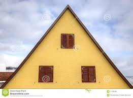 house roof in triangle shape stock photography image 17799182