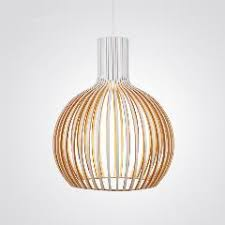 Wooden Pendant Lights Modern Led Wooden Pendant Lights Minimalist Cage Home Furnishing