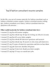 Hr Consultant Resume Sample by Top 8 Fashion Consultant Resume Samples 1 638 Jpg Cb U003d1428658363